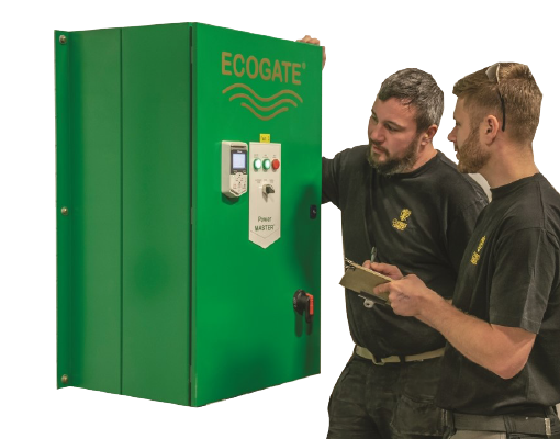 Two men operating an Ecogate® controller