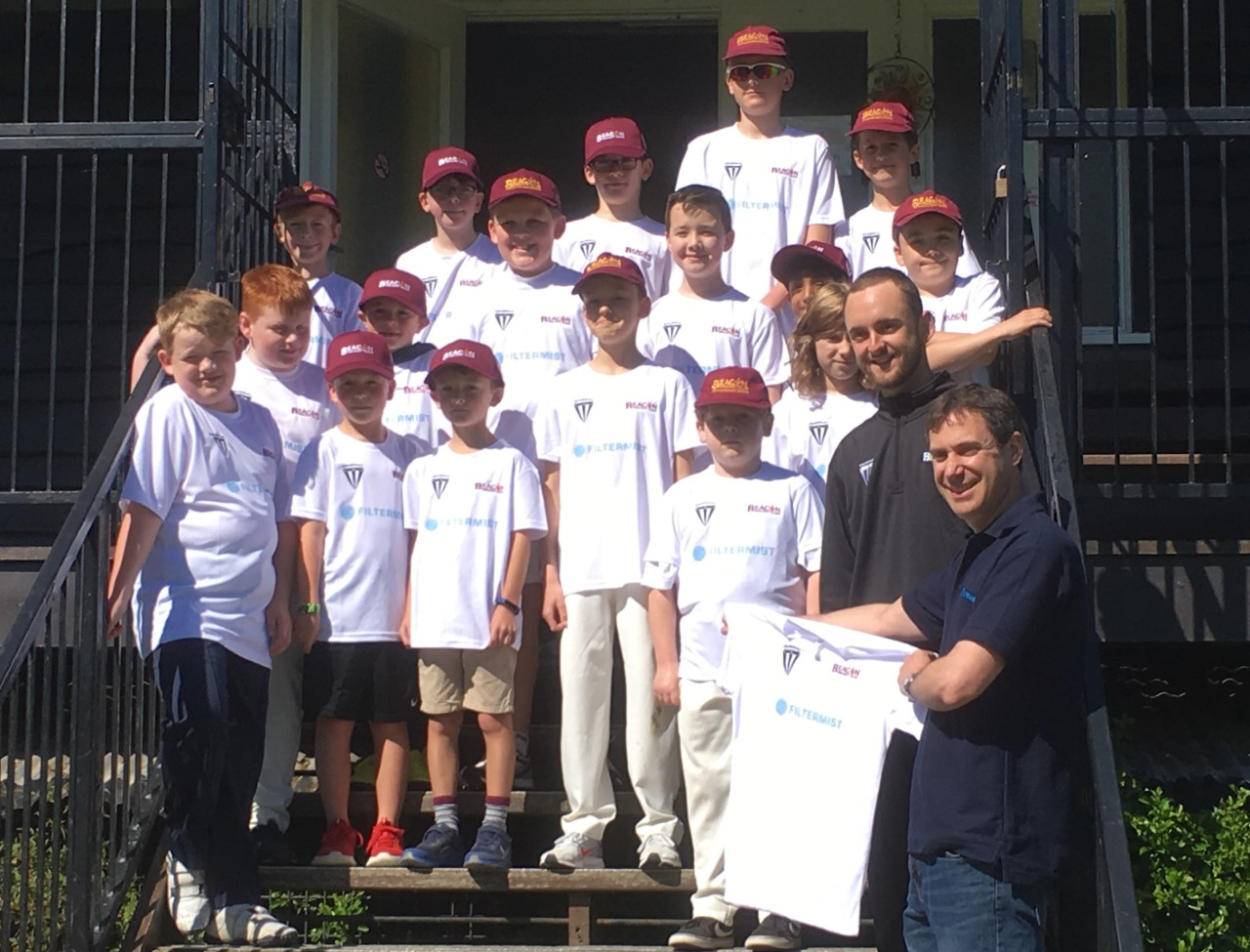 Under 11 Sparks squad is bowled over by support from Filtermist