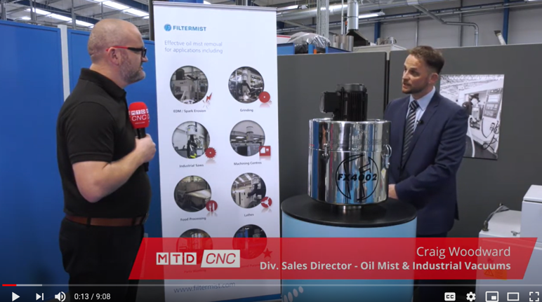 Filtermist and MTD CNC discuss three different oil mist removal technologies