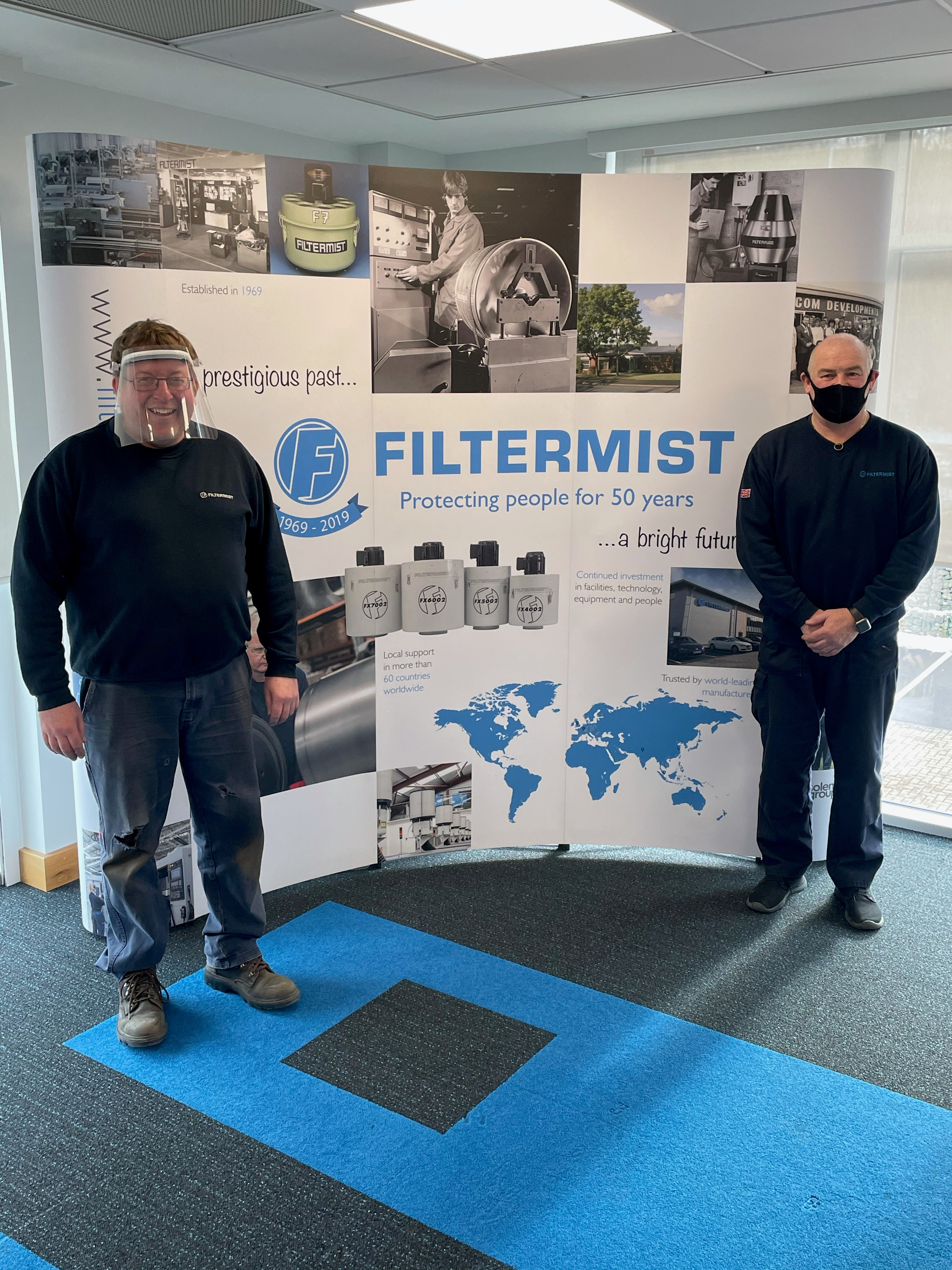 25-year milestone for two Filtermist colleagues