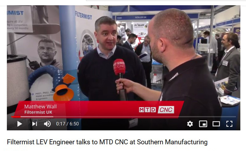 Filtermist LEV Engineer interviewed on importance of LEV Tests at Southern