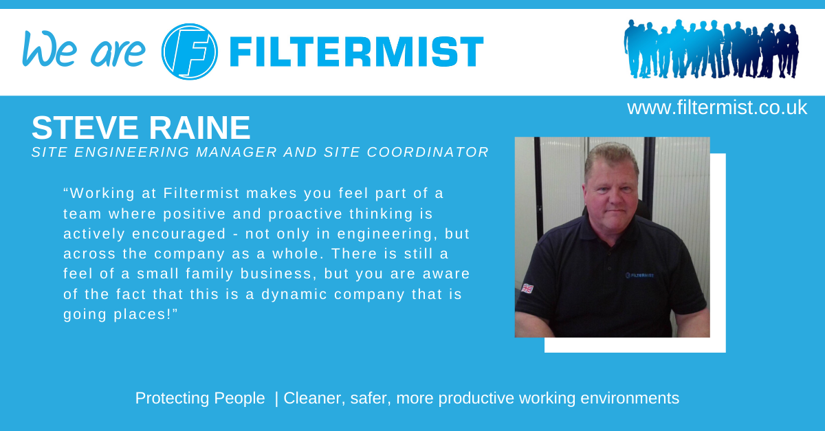 We are Filtermist... Steve Raine