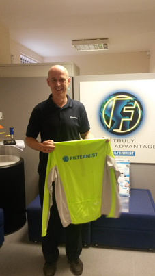Filtermist's first Service Engineer celebrates 25 years of service