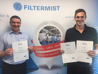 Filtermist increases specialist LEV resource with more BOHS accredited certifications