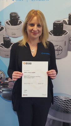 Export team member boosts CV with new qualification